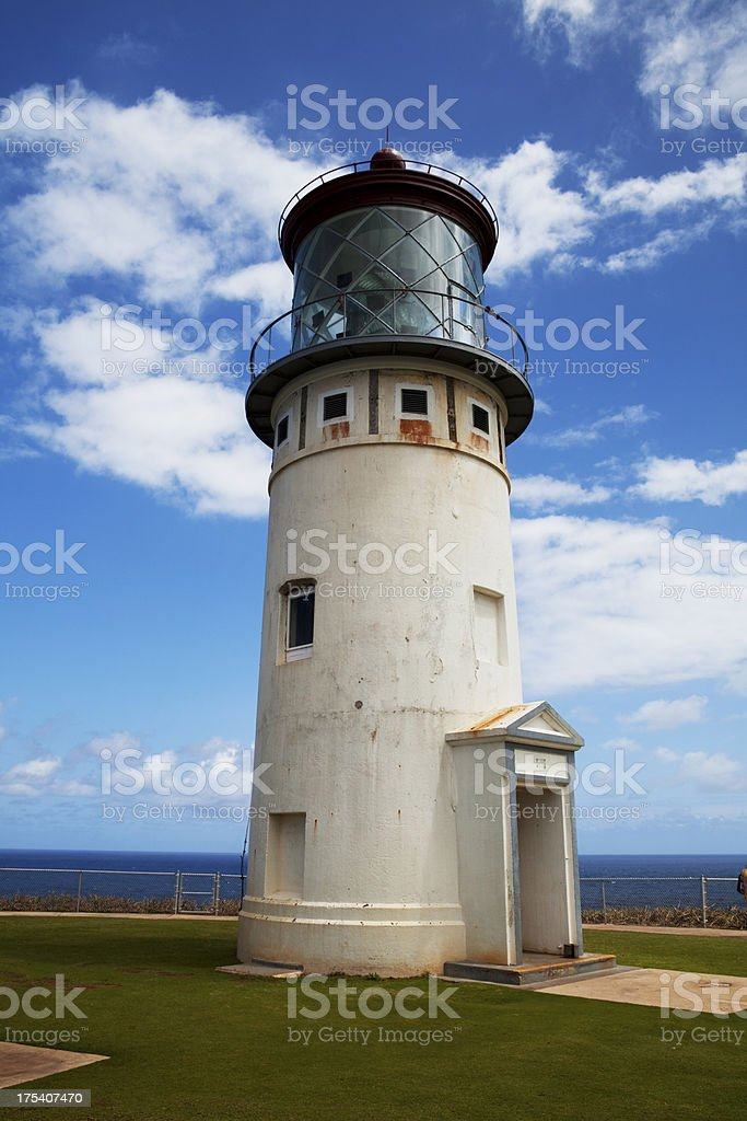 Kilauea Lighthouse Kauai Hawaii stock photo