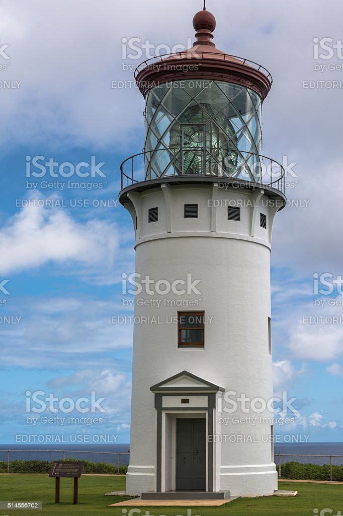 Kilauea Lighthouse, Kauai, Hawaii stock photo