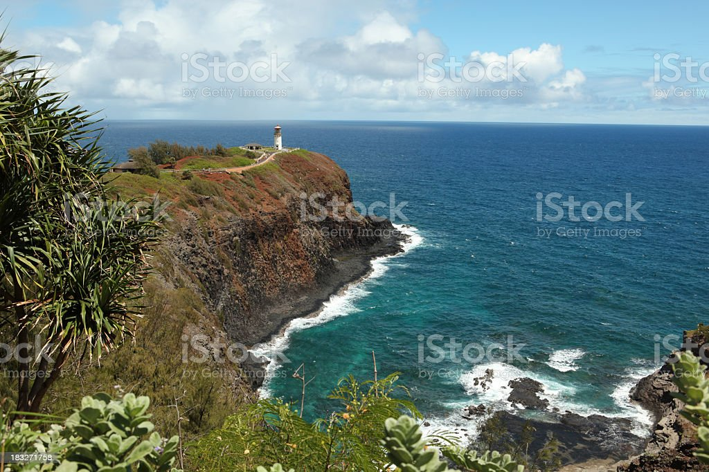 Kilauea Lighthouse kauai stock photo
