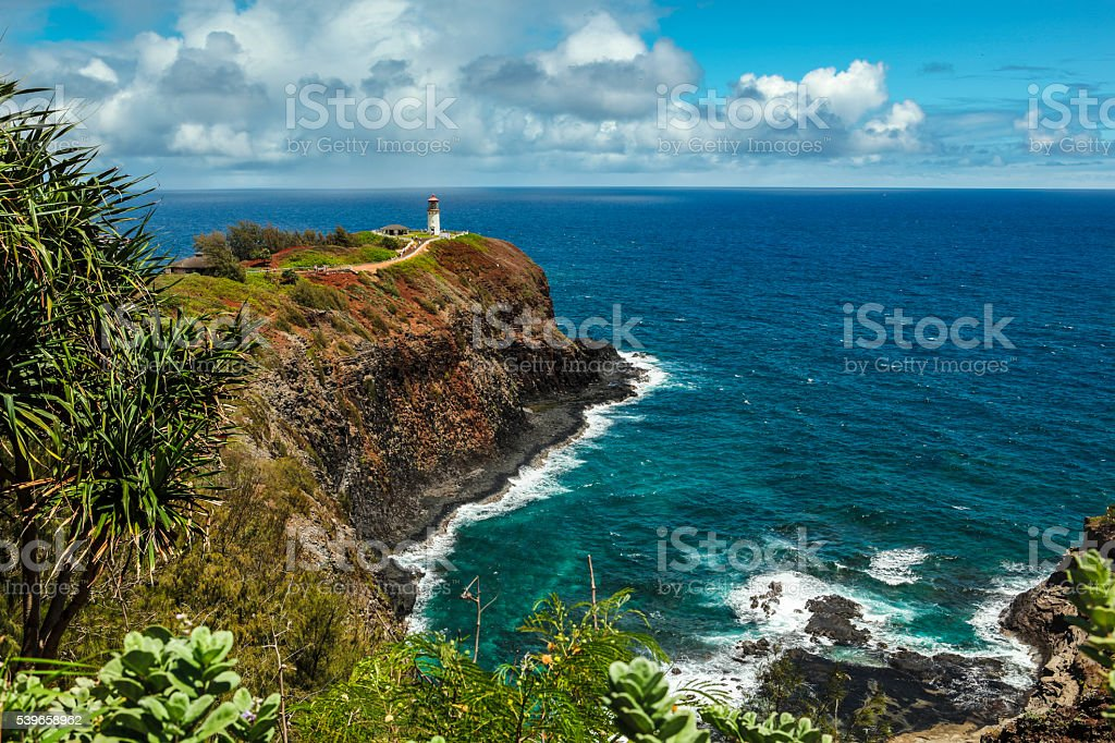 Kilauea Lighthouse, Kauai stock photo