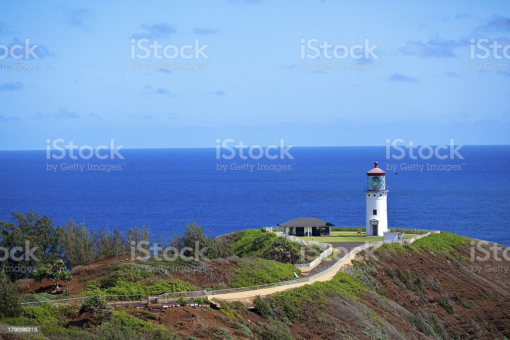 Kilauea Lighthouse Morning stock photo