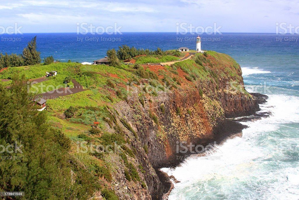Kilauea Lighthouse on Kauai, Hawaii stock photo