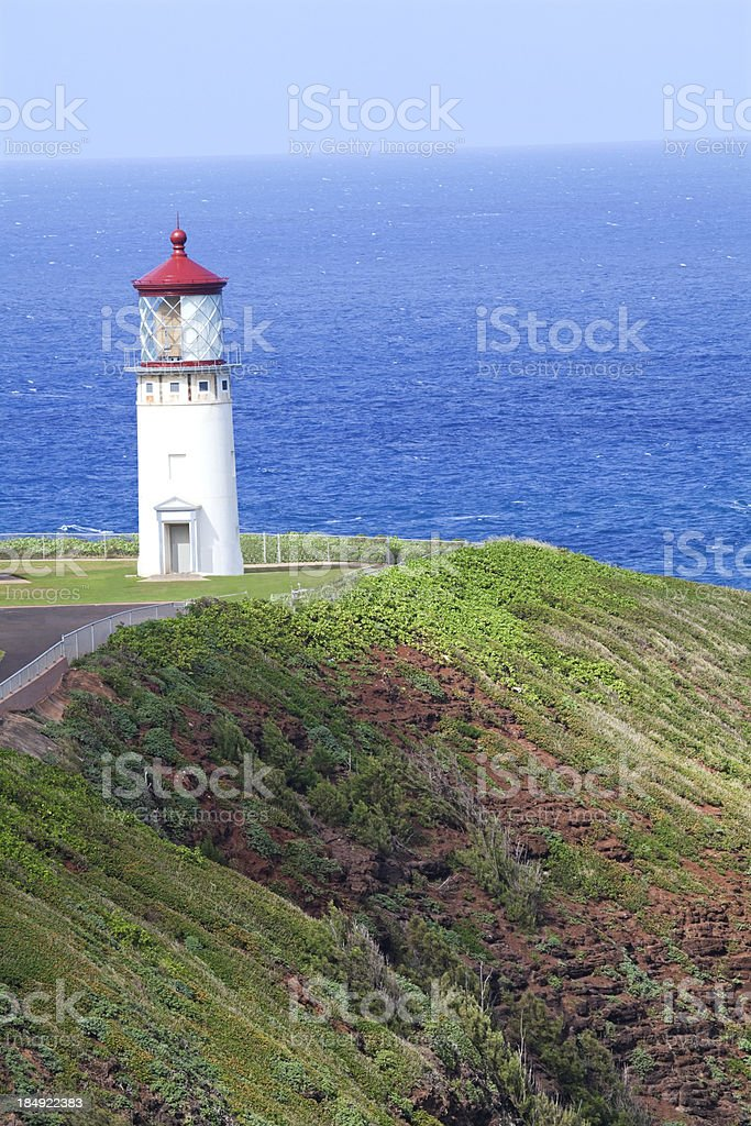 Kilauea lighthouse on Kauai stock photo