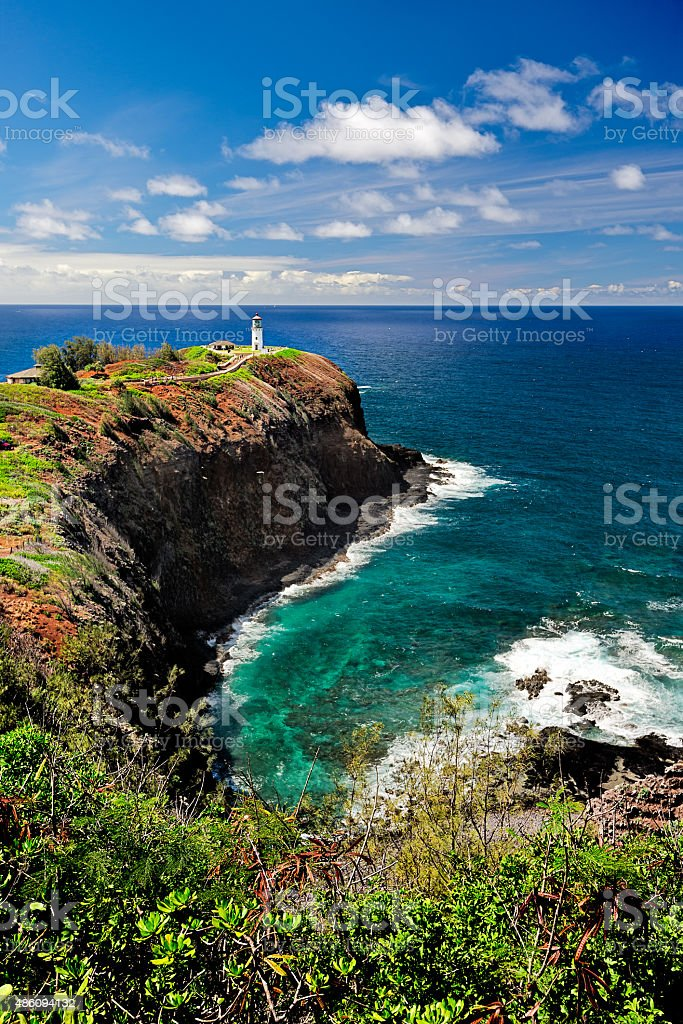 Kilauea Lighthouse stock photo