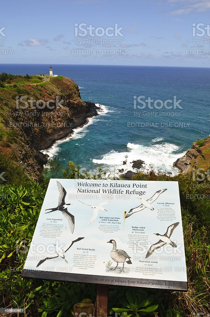Kilauea Point National Wildlife Refuge stock photo