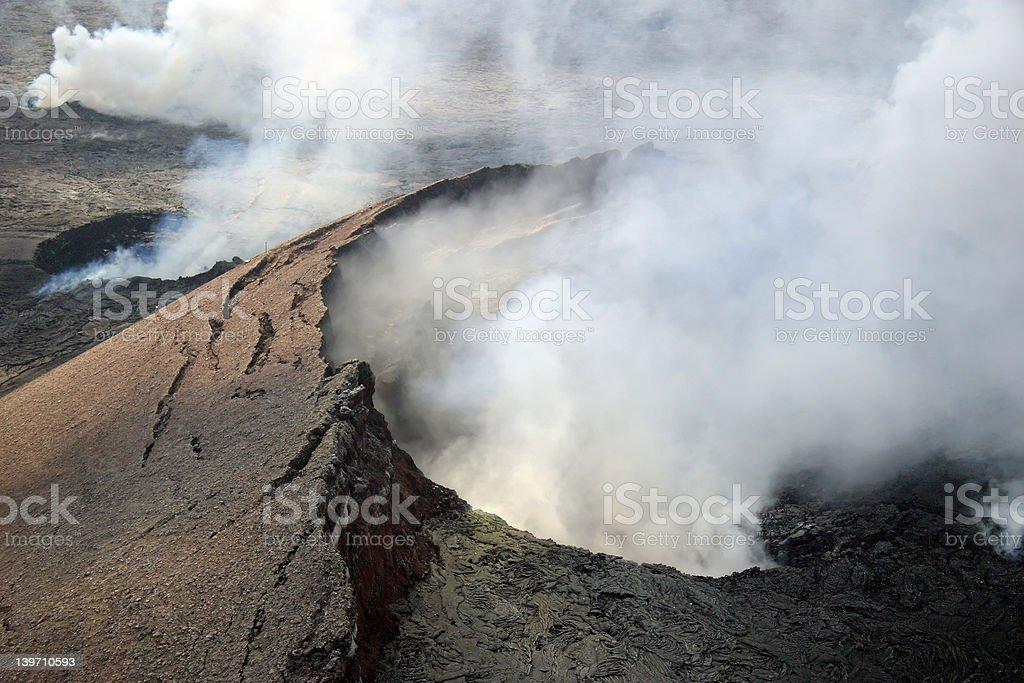 Kilauea Volcano Crater in Hawaii Volcanoes National Park. stock photo