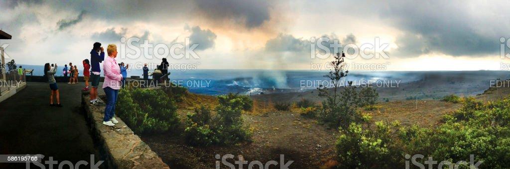 Kilauea Volcano Crater stock photo