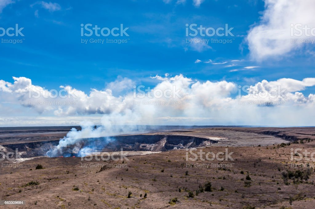 Kilauea volcano, Halema'uma'u Crater, hawaii islands stock photo
