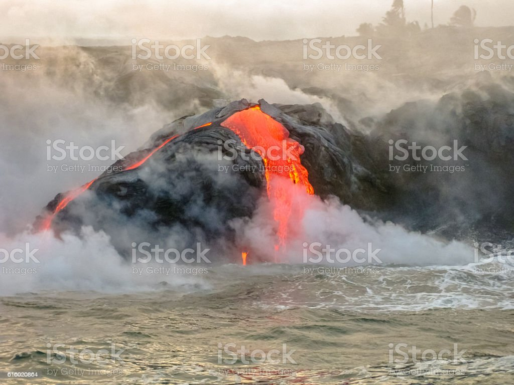 Kilauea Volcano Hawaii stock photo