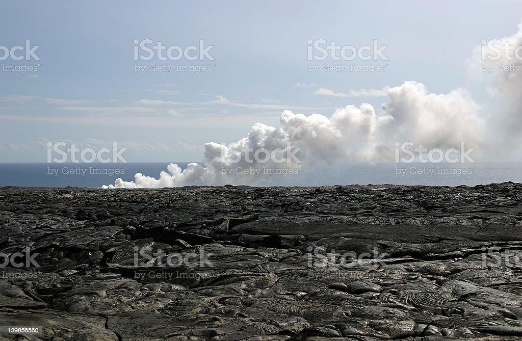 Kilauea Volcano Lava Fields royalty-free stock photo