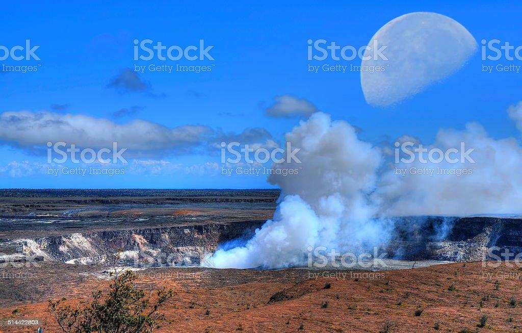 kilauea volcano Moon stock photo