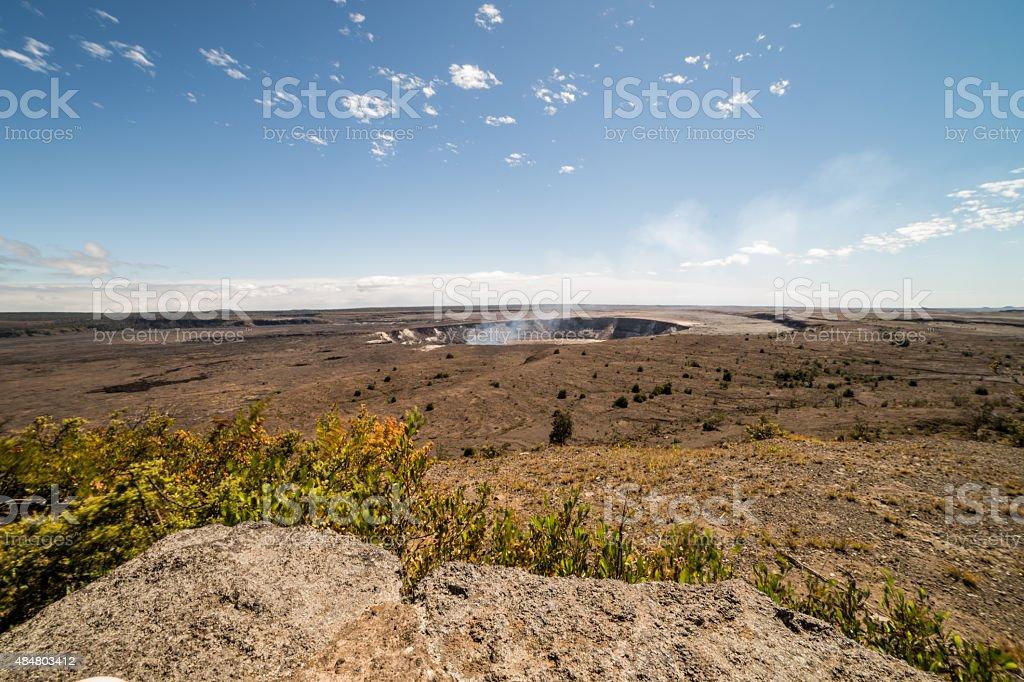 Kilauea Volcano National Park Hawaii stock photo