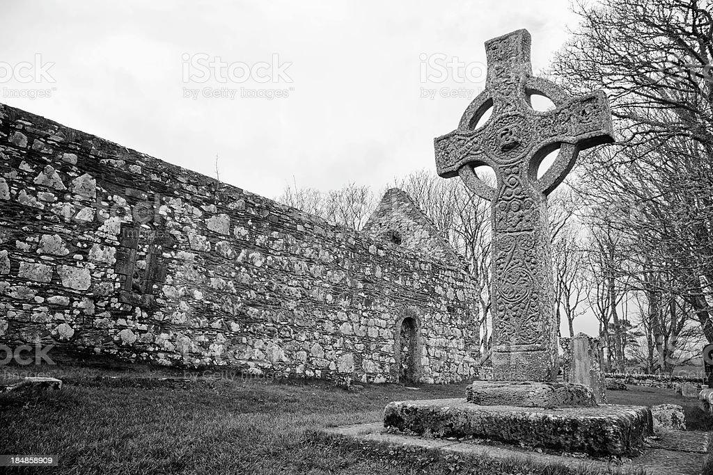 Kildalton Celtic Cross stock photo
