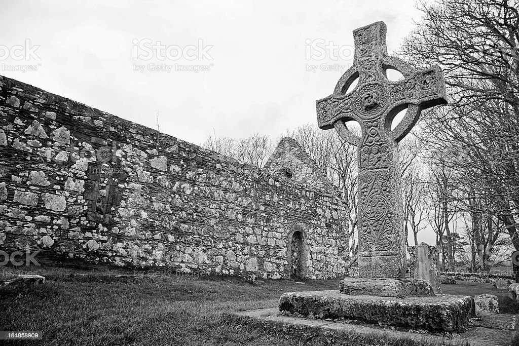 Kildalton Celtic Cross stock photo