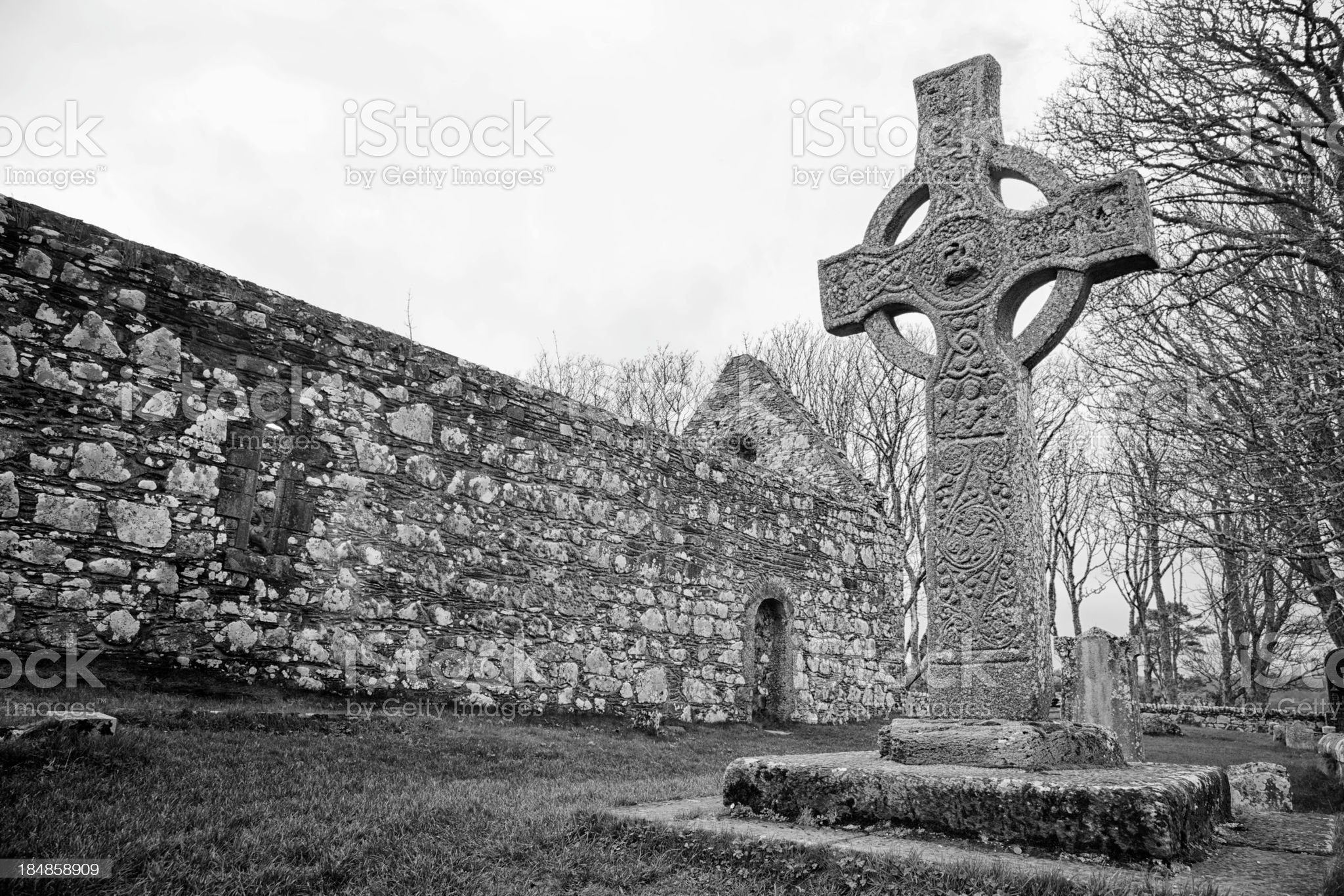 Kildalton Celtic Cross royalty-free stock photo