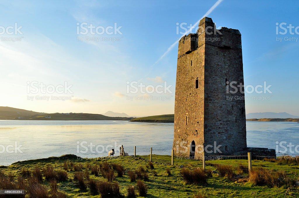 Kildavnet Castle stock photo