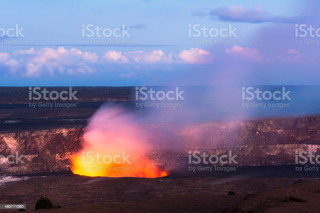 Kileaua Volcano stock photo