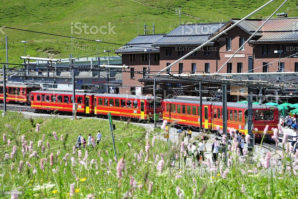 KIleine Scheidegg Station and Hotel, Switzerland stock photo