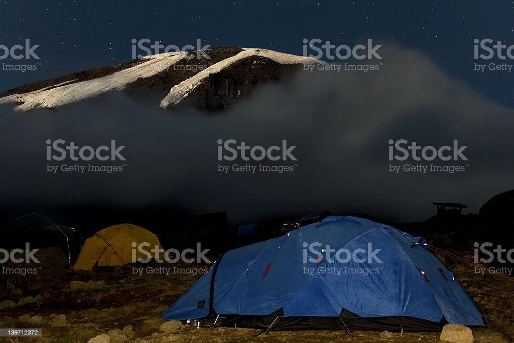 kilimanjaro 019 karango camp tent stock photo