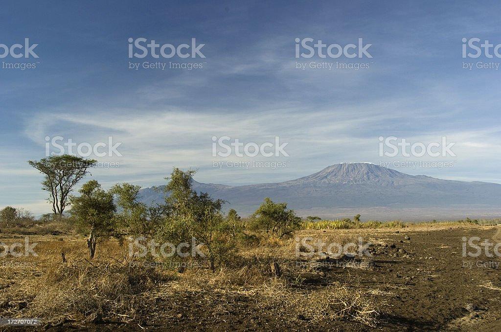 Kilimanjaro cloudscape stock photo
