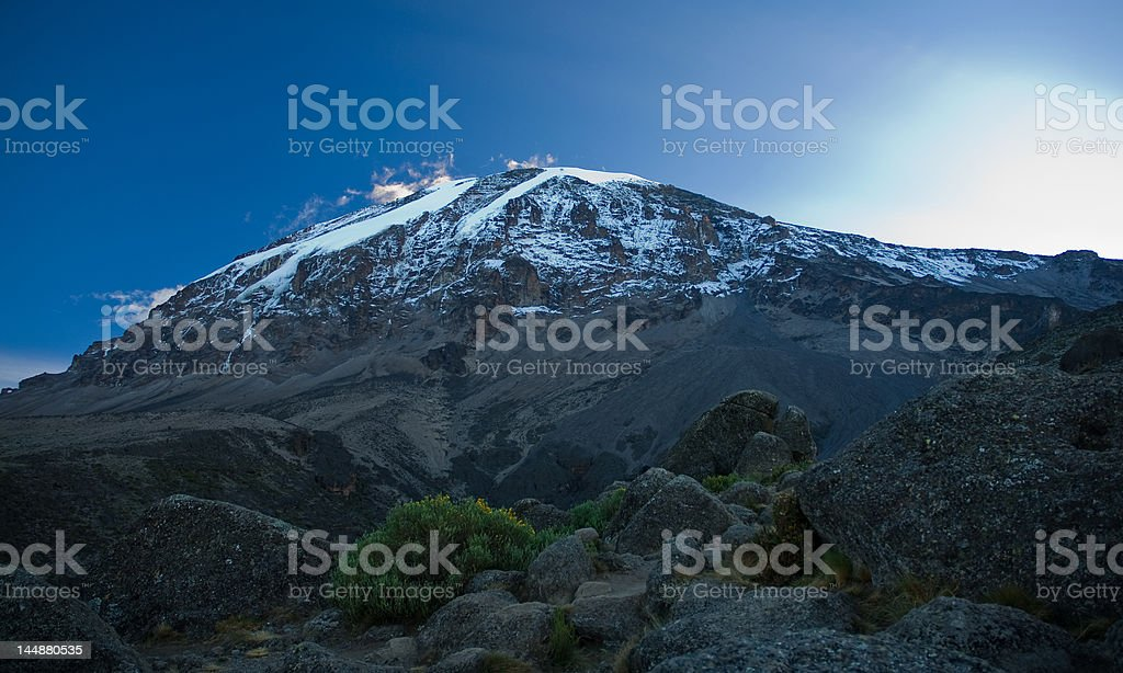 Kilimanjaro in sunrise royalty-free stock photo