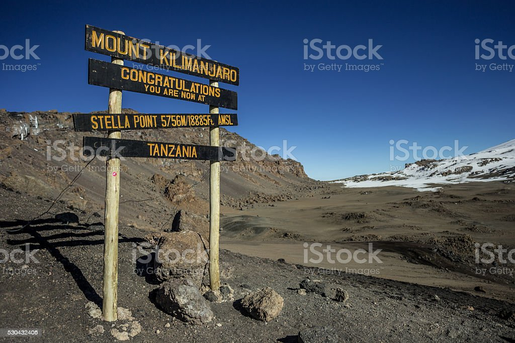 Kilimanjaro, Machame route - Stella Point (5756m) stock photo