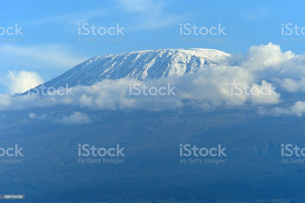 Kilimanjaro mount in Africa stock photo