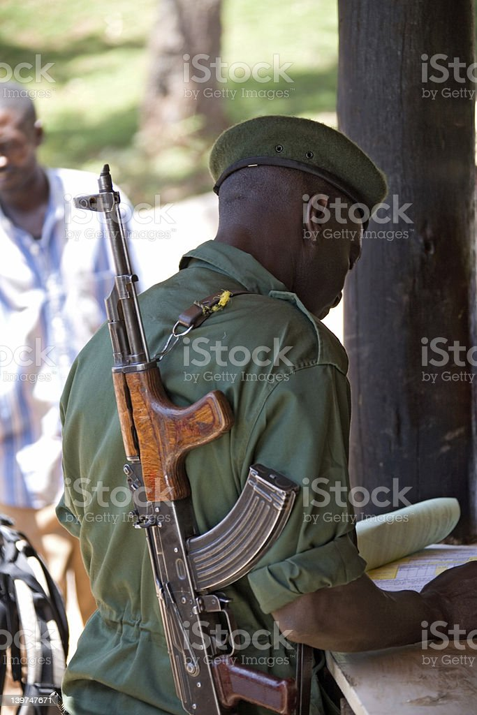 kilimanjaro  soldier stock photo