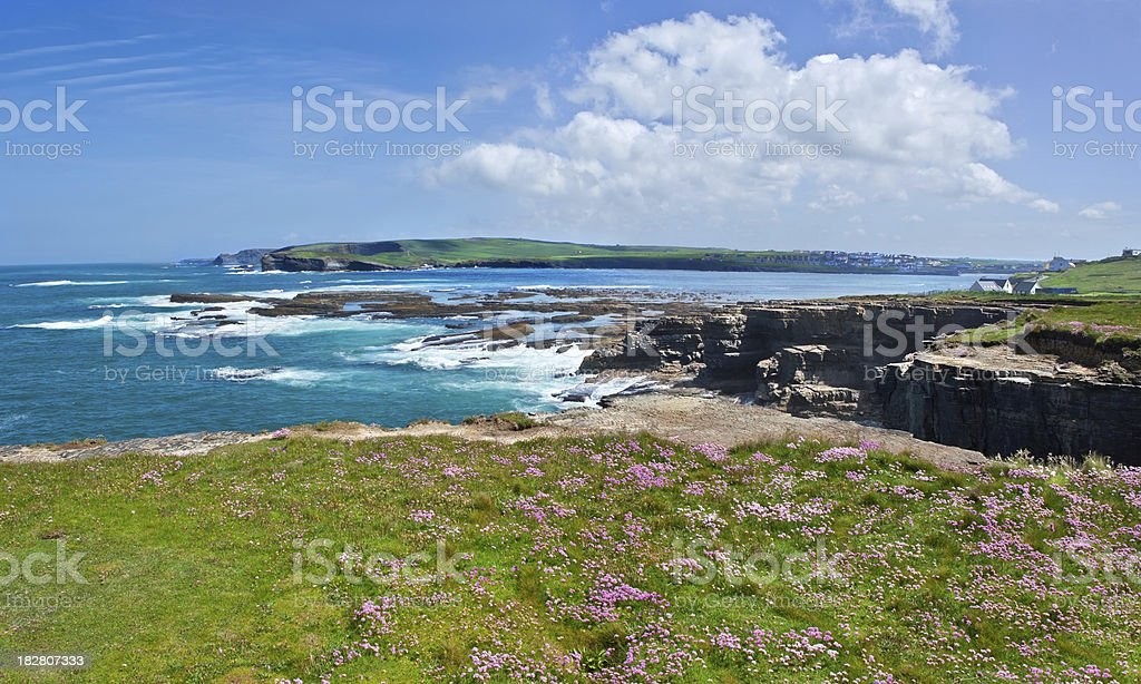 Kilkee Coastline in Spring royalty-free stock photo