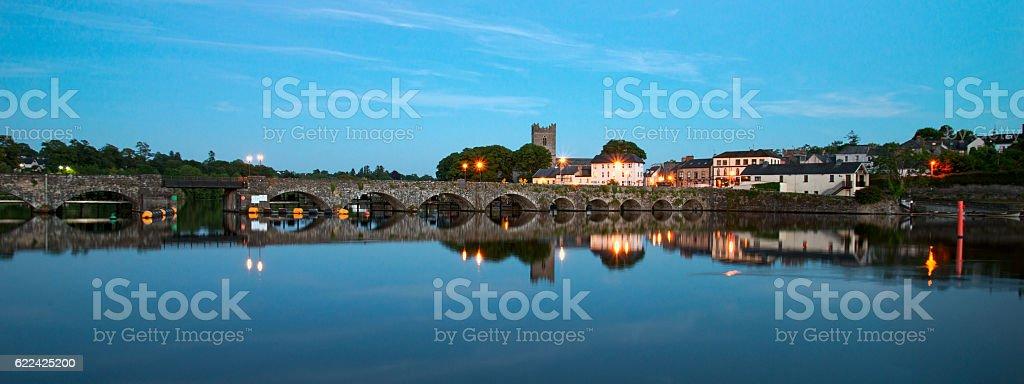 Killaloe, Ireland, at Dusk stock photo