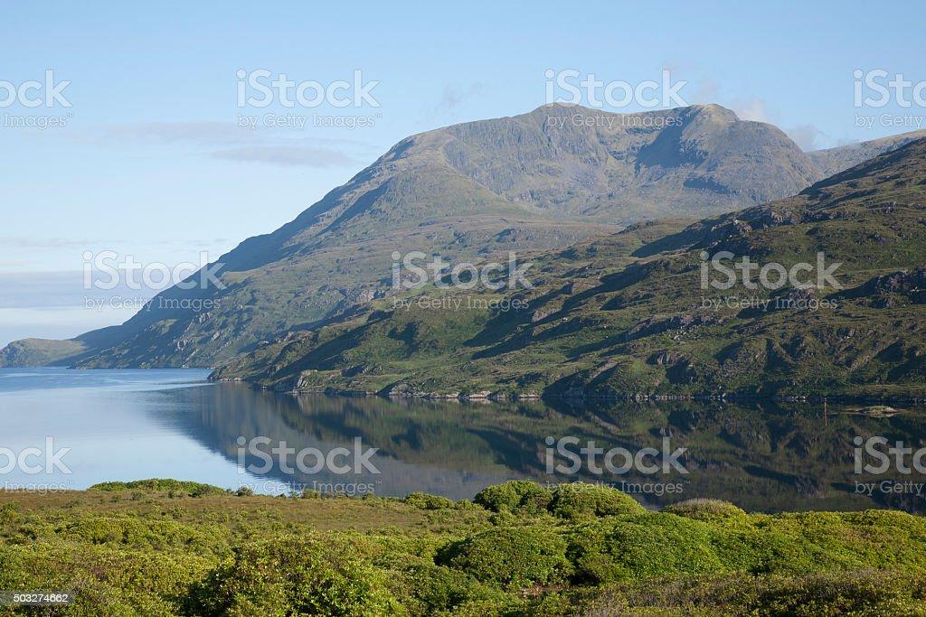 Killary Fjord, Leenane, Connemara National Park stock photo