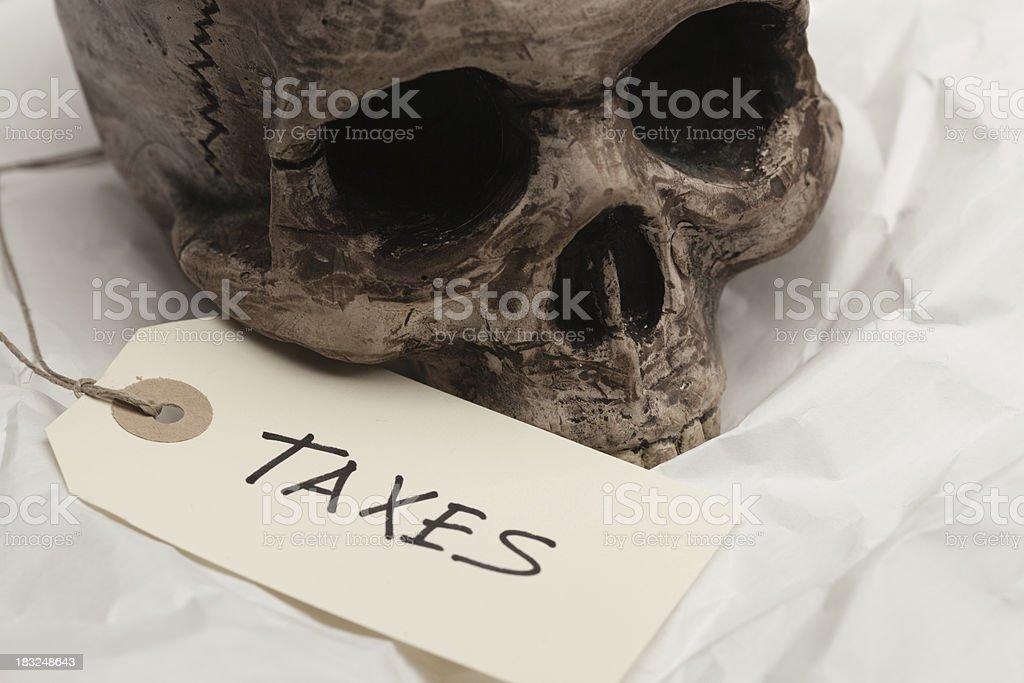 killed by taxes stock photo