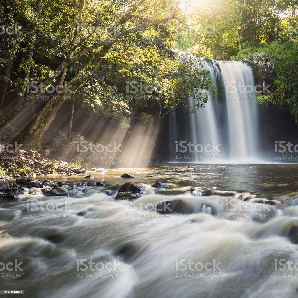 Killen Falls Sunbeams stock photo