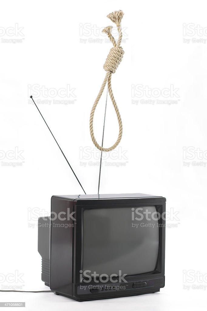 TV killer concept royalty-free stock photo