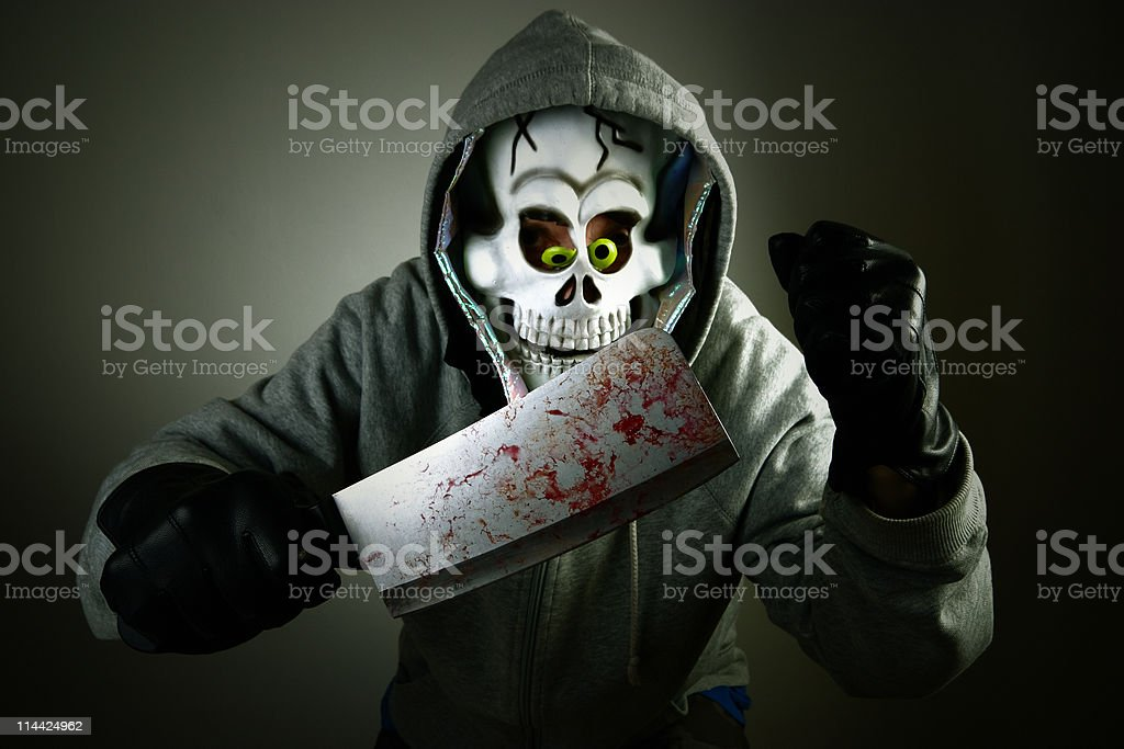 killer escaping royalty-free stock photo
