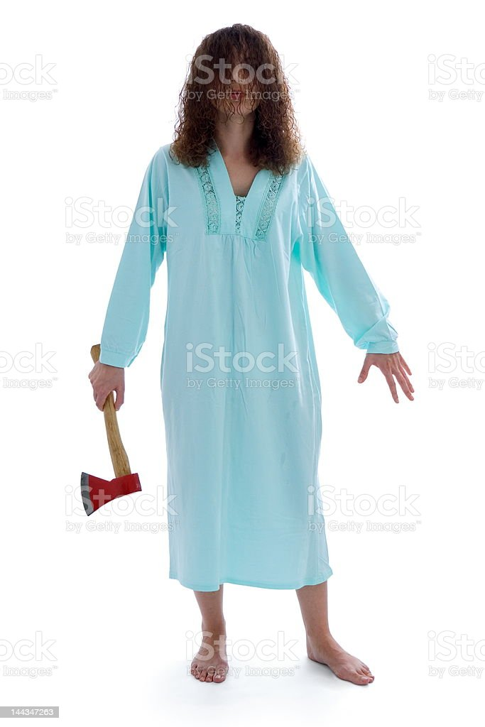Killer lady royalty-free stock photo