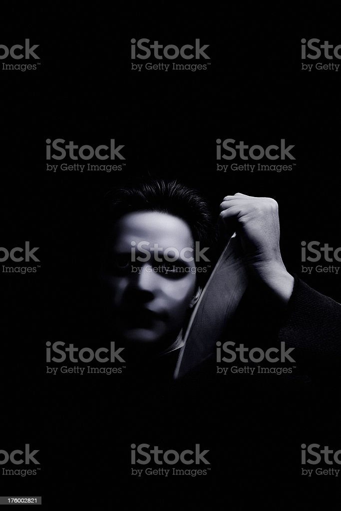 Killer - The Mask royalty-free stock photo