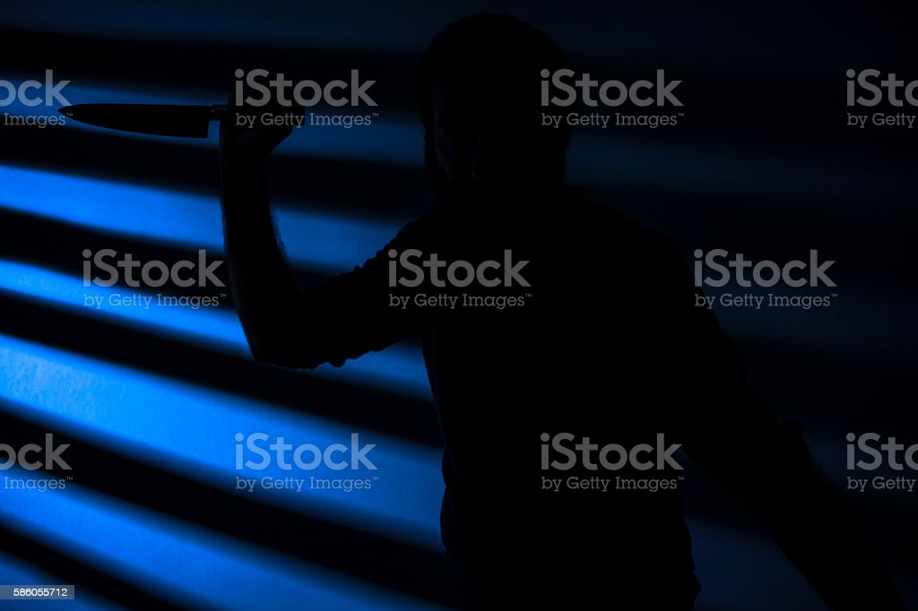Killer with Knife stock photo