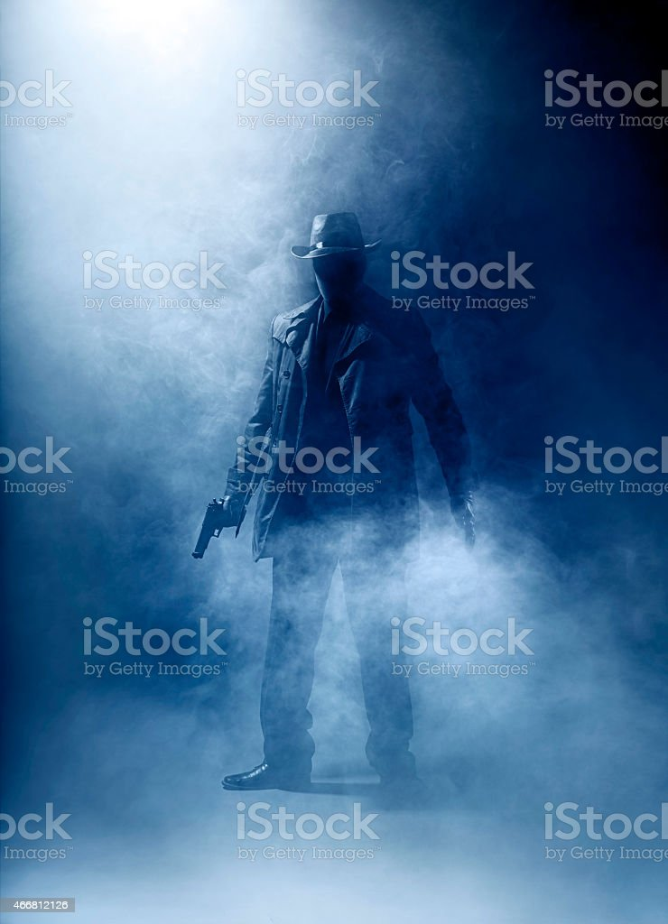 Killer without a face stock photo