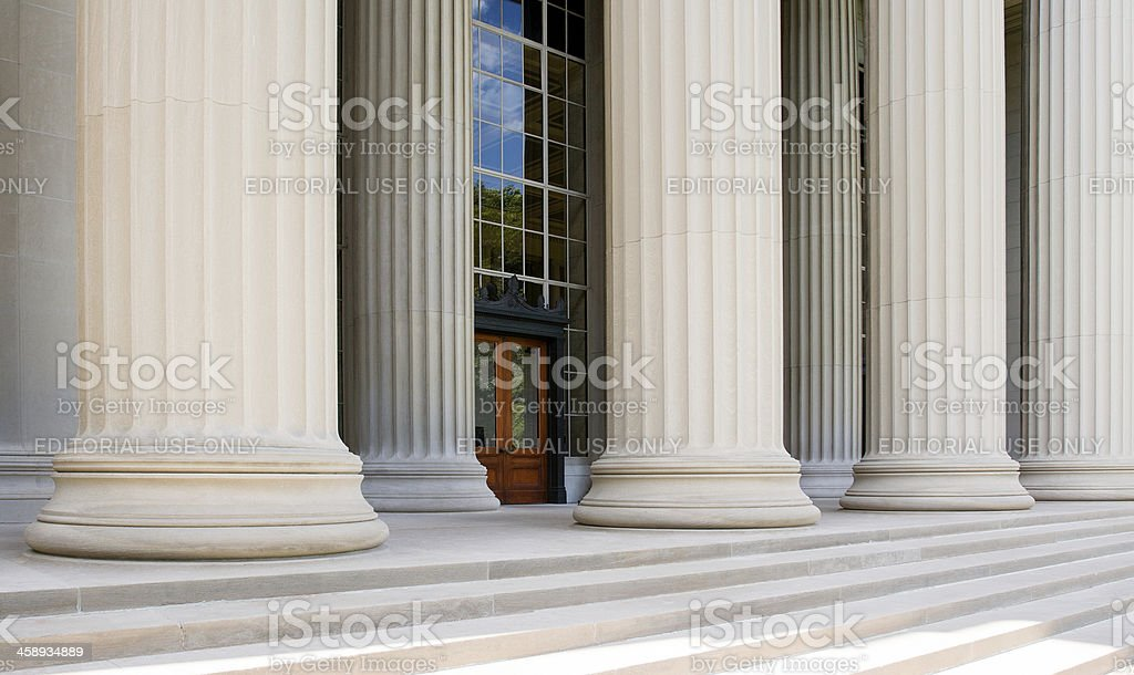 Killian Court and Great Dome Building, Massachusetts Institute of Technology royalty-free stock photo
