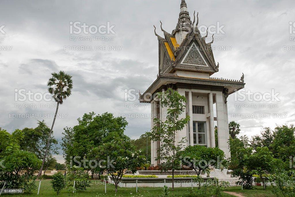 Killing Fields memorial in Cambodia stock photo