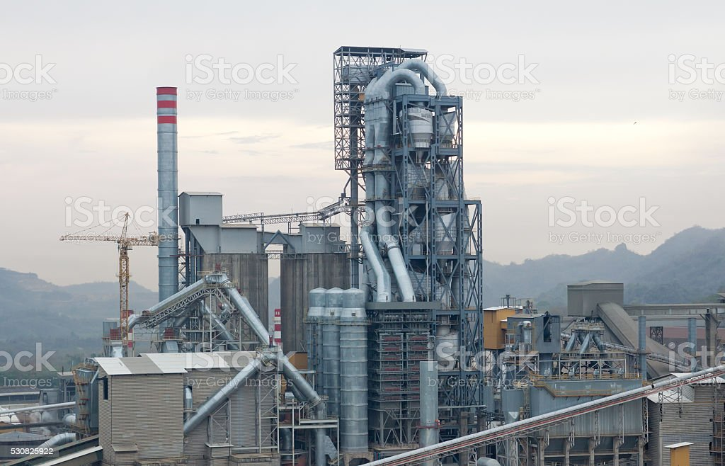 Kiln preheater tower stock photo