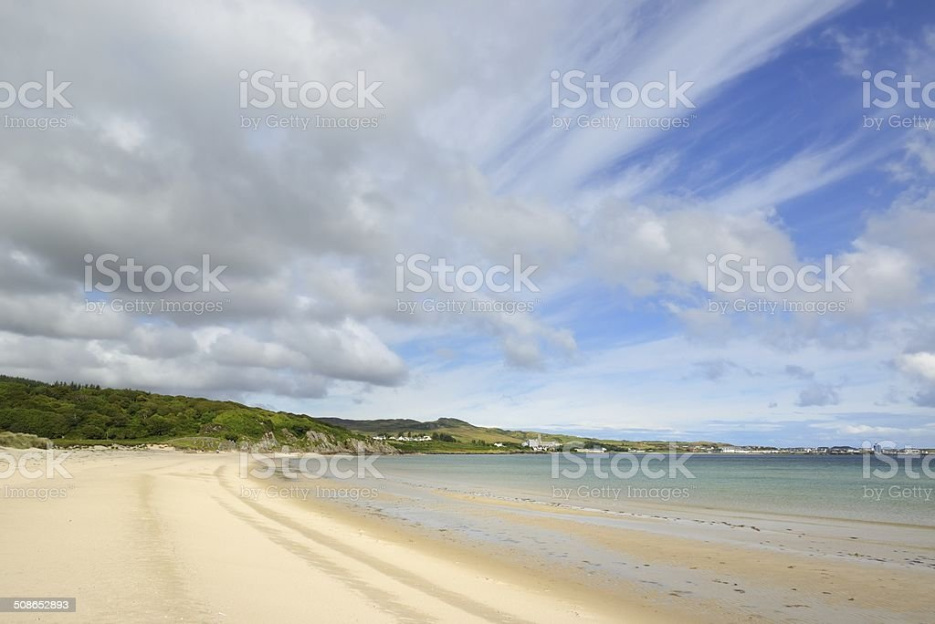 Kilnaughton Bay stock photo