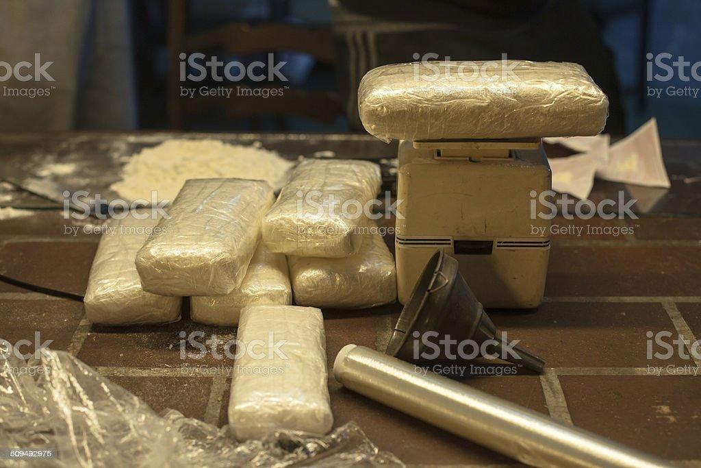 Kilos of cocaine stock photo