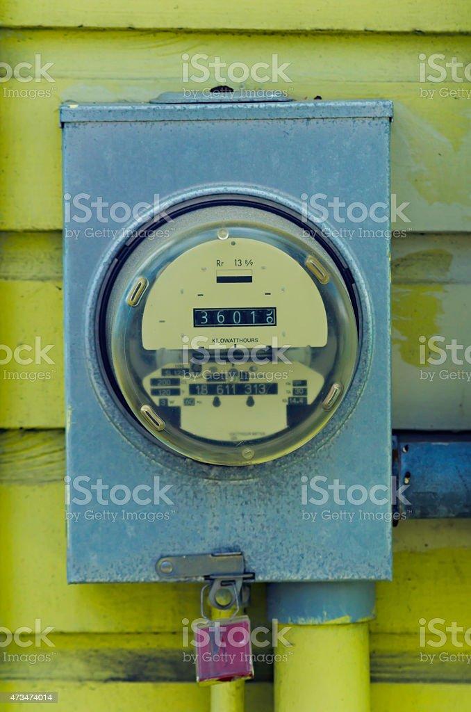 Kilowatt hour meter stock photo