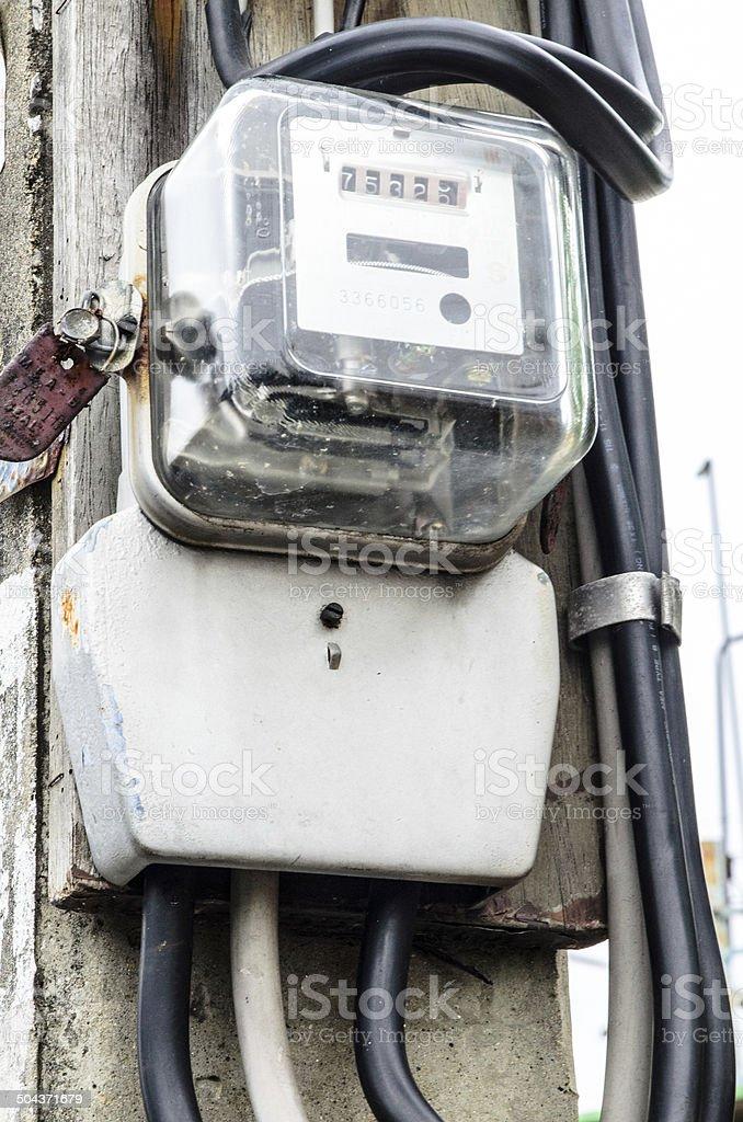 Kilowatt hours meter. stock photo