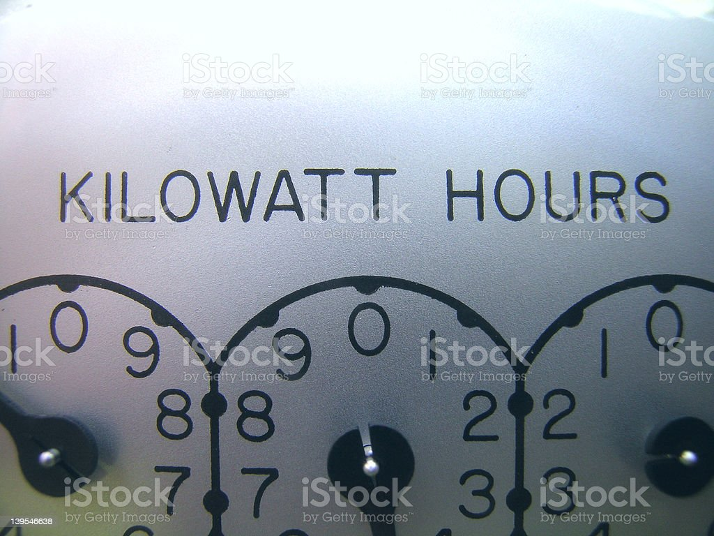 Kilowatt Hours stock photo