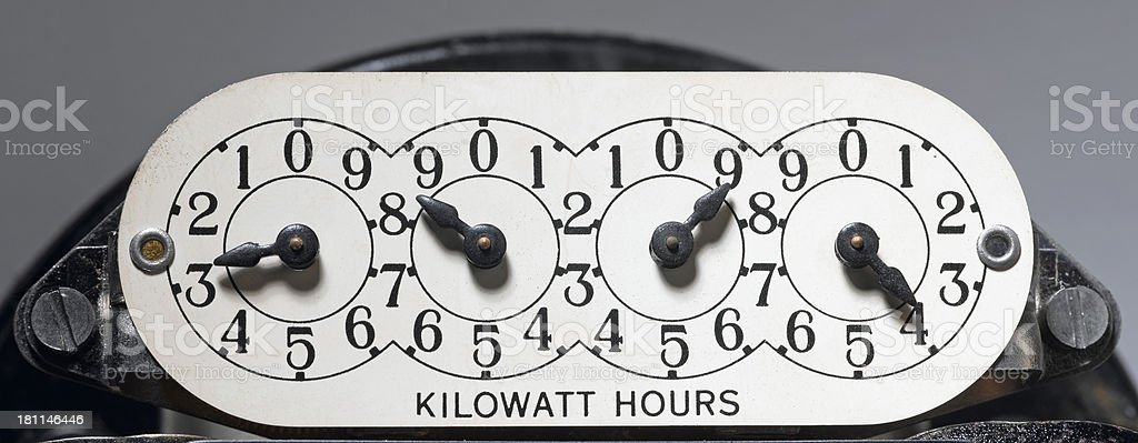 Kilowatt stock photo