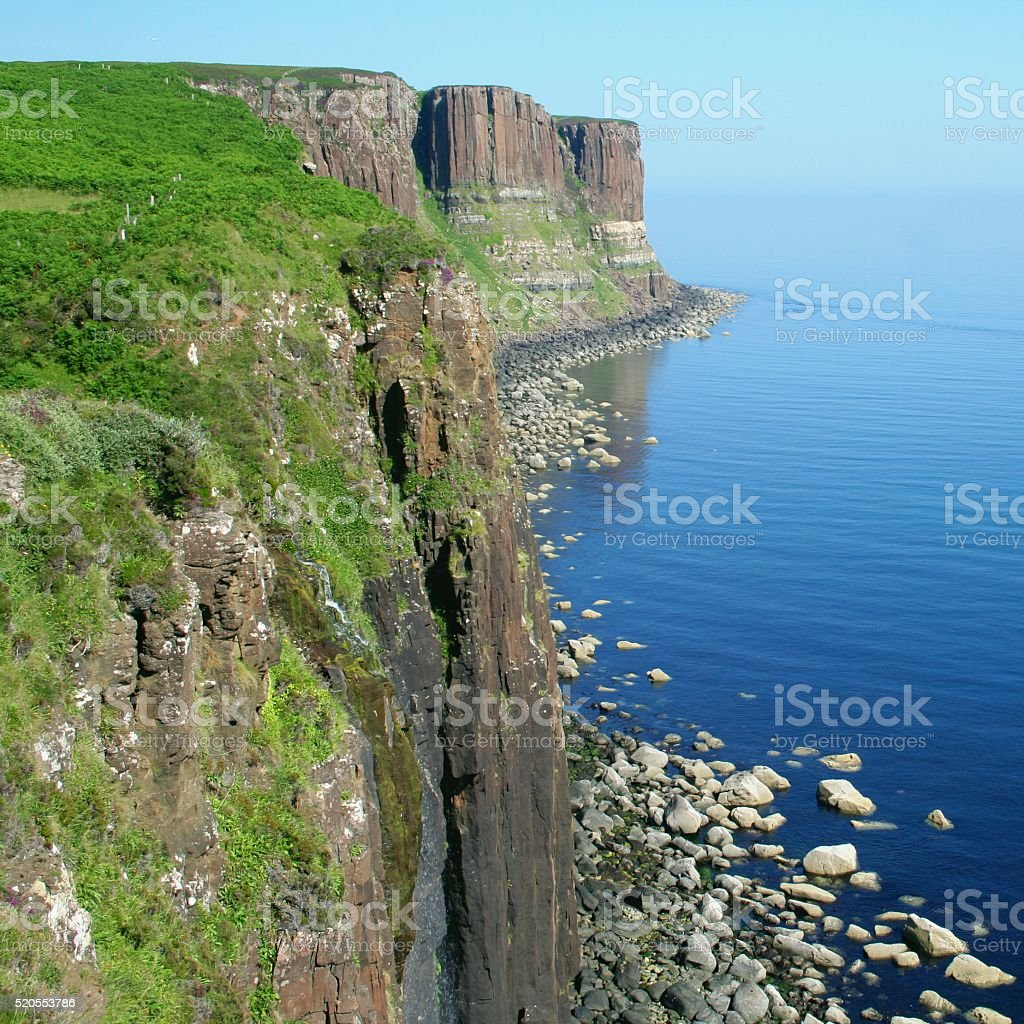 Kilt Rock cliffs, Island of Skye, Scotland stock photo