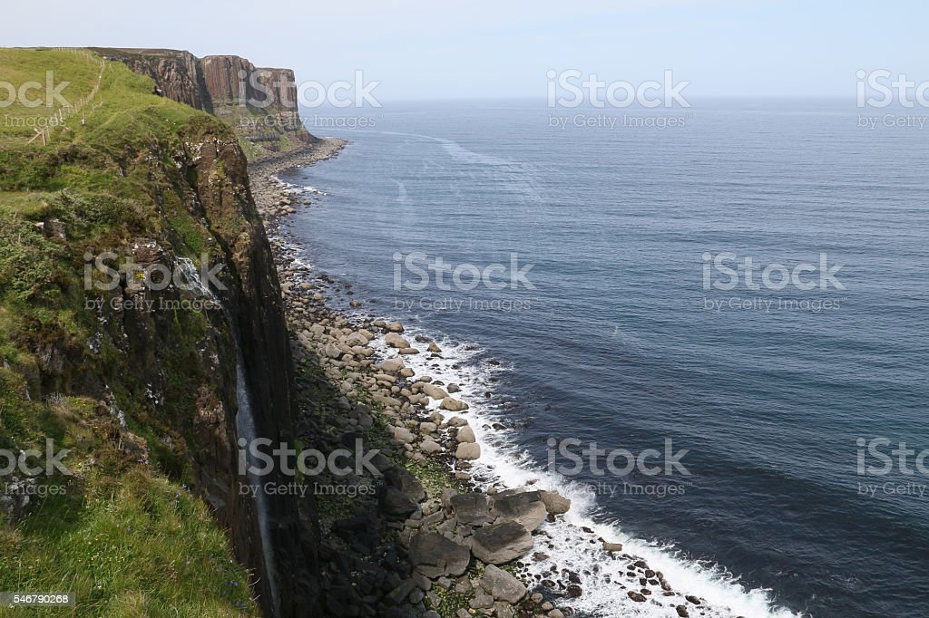Kilt Rock, Isle of Skye stock photo